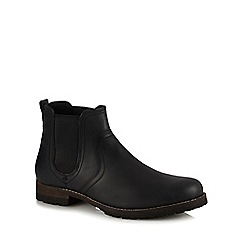 Mantaray - Black leather 'Kazan' Chelsea boots