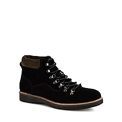 Red Herring - Black suede 'Comet' hiking boots