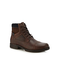 Red Herring - Brown leather 'Saturn' lace up boots
