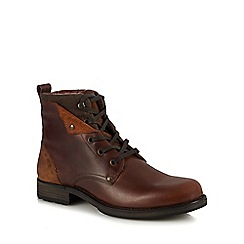 Red Herring - Tan leather 'Solar' lace up boots