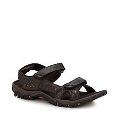 Mantaray - Chocolate Brown 'Bismark 3' Sandals