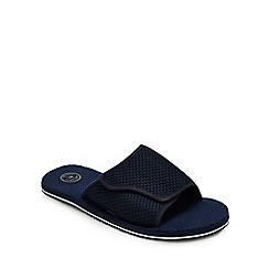 Mantaray - Navy Mesh 'Tenerife' Slider Sandals