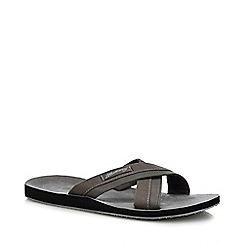 Mantaray - Grey 'Teguise' Flip Flops