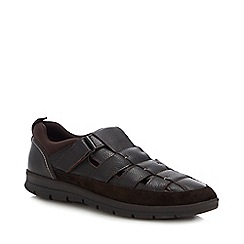 Mantaray - Brown Leather 'Antigua' Shoes