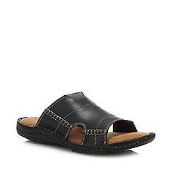 Mantaray - Black Leather  Jamaica  Mule Sandals