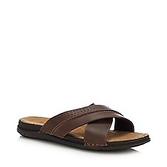 Mantaray - Brown 'Adriatic 3' Flip Flops