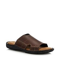 199fbaff6cb9 Mantaray - Brown Leather  Jamaica  Mule Sandals