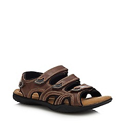 Mantaray - Dark Tan Leather 'Anguilla 3' Sandals
