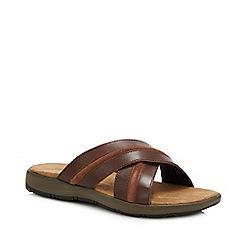 Mantaray - Tan Leather 'Grenada' Mule Sandals