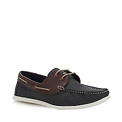 Red Herring - Navy Leather 'Albi' Boat Shoes