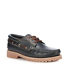 Henley Comfort - Navy Leather 'Samuel' Boat Shoes