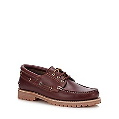 Henley Comfort - Dark Tan Leather 'Samuel' Boat Shoes