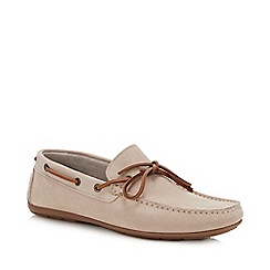 J by Jasper Conran - Natural Suede 'Knight' Driver Loafers