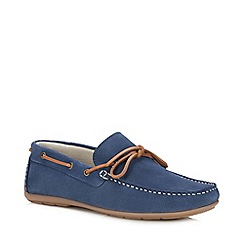J by Jasper Conran - Blue Suede 'Knight' Driver Loafers