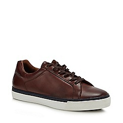 J by Jasper Conran - Brown Leather 'Garda' Trainers