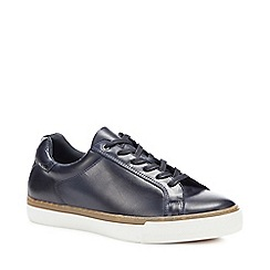J by Jasper Conran - Navy Leather 'Garda' Trainers