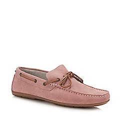 J by Jasper Conran - Pink Suede 'Knight' Driver Loafers
