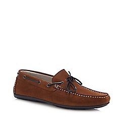J by Jasper Conran - Tan Suede 'Knight' Driver Loafers