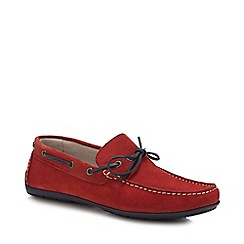 J by Jasper Conran - Terracotta Suede 'Knight' Driver Loafers