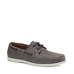 Hammond & Co. by Patrick Grant - Grey Suede 'Yale' boat shoes