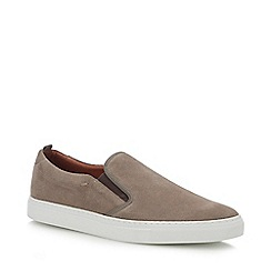 J by Jasper Conran - Taupe Suede 'Sicily' Slip-On Trainers