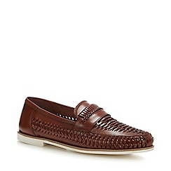 Red Herring - Dark Tan Suede 'Pizzorno 8' Loafers