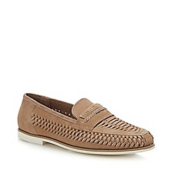 Red Herring - Natural Suede 'Pizzorno' Woven Loafers