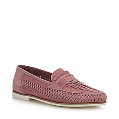 Red Herring - Pink Suede 'Pizzorno' Woven Loafers