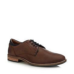 Red Herring - Chocolate Brown Leather 'Finn' Derby Shoes