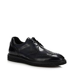 J by Jasper Conran - Navy Leather 'Cote' Wedge Sole Brogue