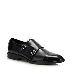 Hammond & Co. by Patrick Grant - Black Leather 'Norton' Monk Shoes