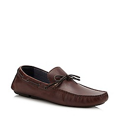 Red Herring - Brown Leather 'Greyson' Driver Loafers