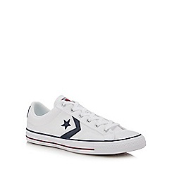 Converse - White canvas 'Star Player' trainers
