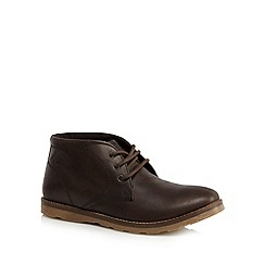 Mantaray - Brown leather Chukka boots