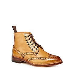 RJR.John Rocha - Tan Goodyear welted punched ankle boots