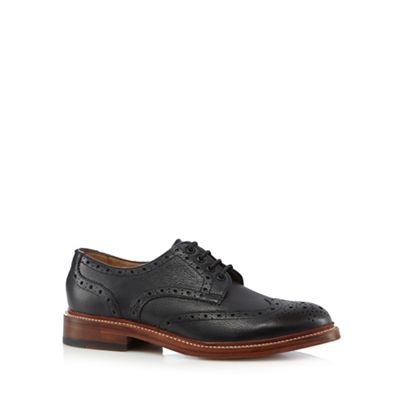 RJR.John Rocha - Black leather Goodyear welted brogues