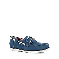 Maine New England - Blue suede 'Pontoon' boat shoes
