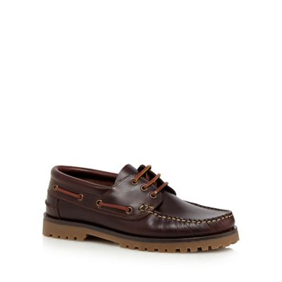 RJR John Rocha Brown leather boat shoes 0840106416