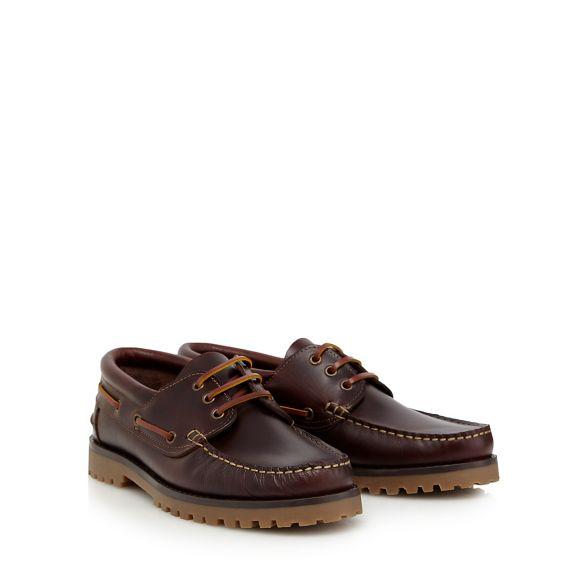 Brown leather RJR boat Rocha shoes John Z4cBFc8w6q