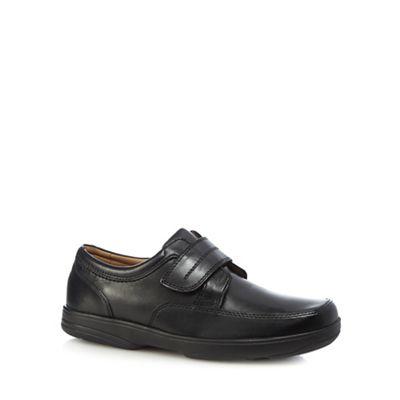 Henley Comfort - Black leather 'Windamere' slip on shoes