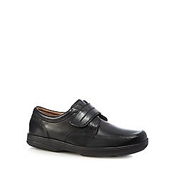 Henley Comfort - Black leather 'Windamere' slip on shoes