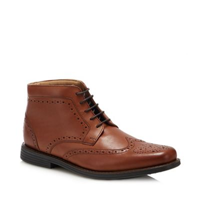 Henley Comfort   Tan Leather 'thames' Wide Fit Chukka Boots by Henley Comfort