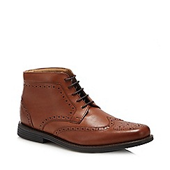 Henley Comfort - Tan leather 'Thames' wide fit Chukka boots