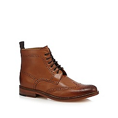J by Jasper Conran - Tan leather brogue boots