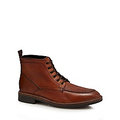 Hammond & Co. by Patrick Grant - Brown leather 'Surrey' lace up boots