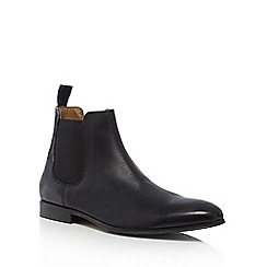 Red Herring - Black 'Mars' leather Chelsea boots