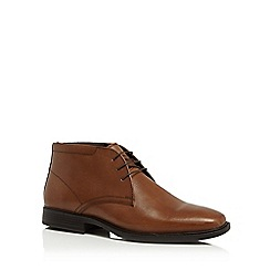The Collection - Tan leather 'Halifax' chukka boots