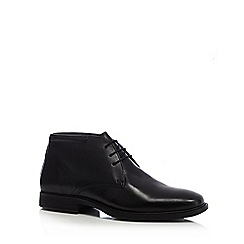 The Collection - Black 'Halifax' leather chukka boots