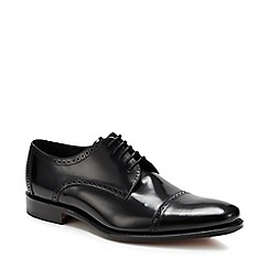 Loake - Black leather Derby shoes
