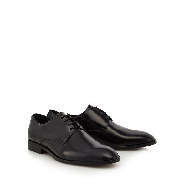 Black Derby by Co 'Bowen' amp; Grant Patrick leather Hammond shoes qFfawHn